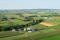 Lancaster County Ackerland von oben Lizenzfreie Stockfotos