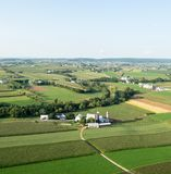 Lancaster County Farmland From Above Royalty Free Stock Images