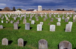 Lancaster County, PA: Amish Cemetery Stock Photos