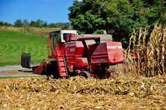 Lancaster County, PA: Threshing Machine in Cornfield Royalty Free Stock Photography