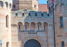 Lancaster County Prison Sign Stock Photos