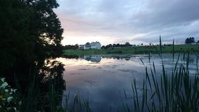 Lancaster county sunset stock photo