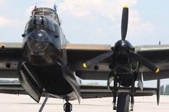 lancaster för avrobombplanframdel wiev royaltyfri fotografi