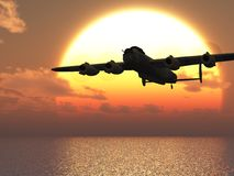 Lancaster heavy bomber Illustration Royalty Free Stock Photography