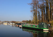 Lancaster kanal på Carnforth, Lancashire Royaltyfri Bild