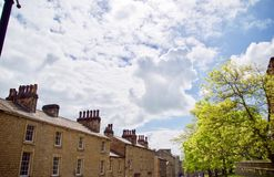 Clouds over the buildings. Lancaster  Lancashire England united kingdom stock images