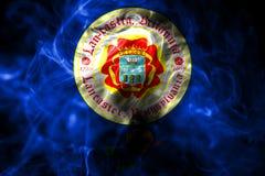 Lancaster miasta dymu flaga, Pennsylwania stan, Stany Zjednoczone royalty ilustracja