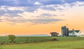Lancaster okręgu administracyjnego gospodarstwo rolne Obrazy Royalty Free