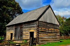 Lancaster, PA: Casa da exploração agrícola do log de Fachwerk Foto de Stock