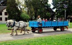 Lancaster, PA: Children on Wagon Ride Stock Photos