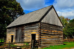 Lancaster, PA: Fachwerk Log Farm House Stock Photo
