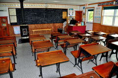 Lancaster, PA: Interior of One Room Schoolhouse Royalty Free Stock Photo