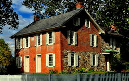 Lancaster, PA: 1830 Landis Homestead. Lancaster, Pennsylvania - October 14, 2015:  Circa 1830 Jacob and Elizabeth Landis Brick Homestead at the Landis Valley Stock Images