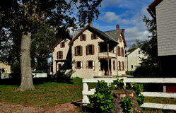 Lancaster, PA: Landis Museum. Lancaster, Pennsylvania:  The Landis Brothers' House, circa 1875, built in the Victorian style at the Landis Valley Village and Royalty Free Stock Photos