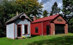 Lancaster PA: Landis museumbyggnader Fotografering för Bildbyråer