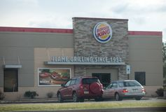 Burger King Retail Fast Food Location. Every day, more than 11 million guests visit Burger King II stock photo