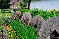 Lancaster, PA: Millstones at Hans Herr House Royalty Free Stock Photo