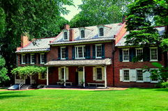 Lancaster, PA: President James Buchanan`s Wheatland. Lancaster, Pennsylvania - June 8, 2015:   Federal-style historic Wheatland mansion, home of James Buchanan Royalty Free Stock Photos