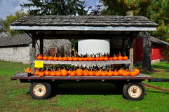 Lancaster, PA: Pumpkin Display at Landis Museum Royalty Free Stock Photos