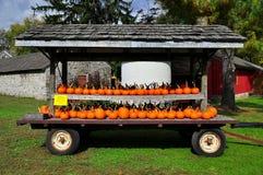 Lancaster, PA: Pumpkin Display at Landis Museum Royalty Free Stock Photos