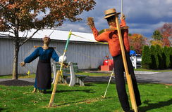 Lancaster, PA: Scarecrows at Amish Farm & House Museum Stock Image