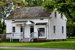 Lancaster, PA: Sexton's House at Landis Museum. Lancaster, Pennsylvania:  C. 1850 Sexton's House from a local church at the Landis Valley Village and Farm Museum Stock Photos