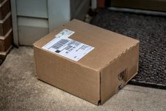 Brown Package Residential Delivery stock photos