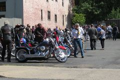 Lancaster, PA, USA - September 30, 2018: The Distinguished Gentleman's Ride. royalty free stock image