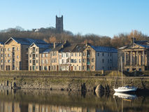 Lancaster Priory and Quayside Stock Image