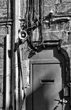 Lancaster-Schloss-Gefängnis-Tür Stockfotografie