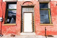 Lancaster storico del centro, Pensilvania durante il tempo di Natale fotografia stock libera da diritti