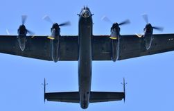 Lancaster Underside. A close shot of the underside Lancaster Bomber Royalty Free Stock Photo