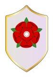 Lancastrian Red Rose Shield Stock Image