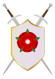 Lancastrian Shield Royalty Free Stock Photo
