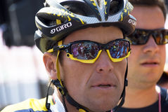 Lance Armstrong am Autogiro 100° d'Italia Stockfotos