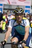 Lance Armstrong am Autogiro 100° d'Italia Stockfotografie