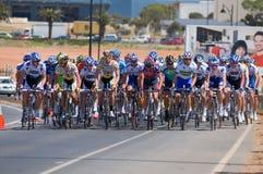 Lance Armstrong entre o pelaton Fotografia de Stock