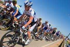 Lance Armstrong entre o pelaton Foto de Stock Royalty Free