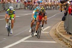 Lance Armstrong-führender Ausflug unten unter 2010 Stockbild
