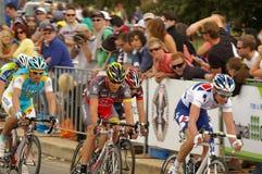 Lance Armstrong nel giro giù sotto 2010 Immagini Stock Libere da Diritti