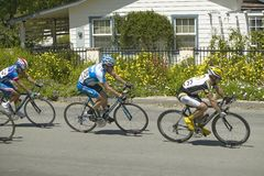 Lance Armstrong que compete Fotografia de Stock