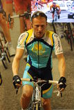 Lance Armstrong wax figure. At Madame Tussaud museum in Amsterdam Stock Photography
