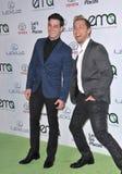 Lance Bass & Michael Turchin. LOS ANGELES, CA - OCTOBER 18, 2014: Lance Bass & partner Michael Turchin (left) at the 2014 Environmental Media Awards at Warner Royalty Free Stock Images