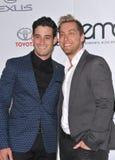 Lance Bass & Michael Turchin. LOS ANGELES, CA - OCTOBER 18, 2014: Lance Bass & partner Michael Turchin (left) at the 2014 Environmental Media Awards at Warner Stock Photos