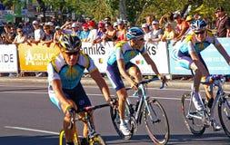 lance de retour d'Armstrong Photo stock