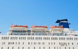 Lance di salvataggio della nave da crociera. Immagini Stock