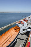 Lance di salvataggio a Queen Mary Immagine Stock