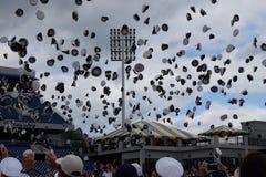 Lance do chapéu da marinha da graduação 2017/ imagens de stock royalty free