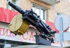 Lance-grenades automatique russe avec la boîte attachée pour l'ammunit Photo libre de droits