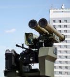 Lance-grenades et mitrailleuse, installation mobile pour la guerre Photos libres de droits